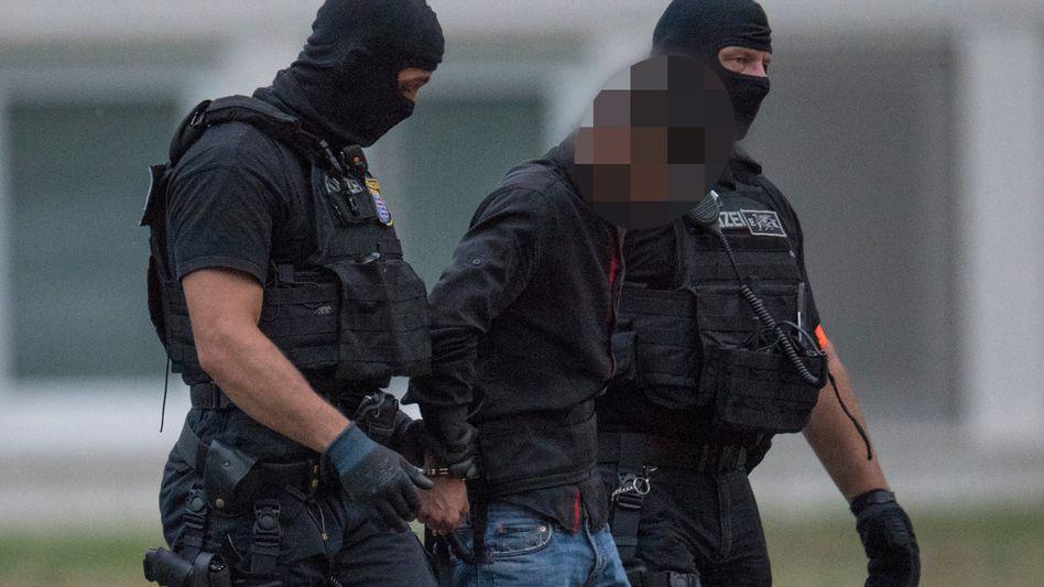 Spezialeinheit der Polizei mit Ali B.