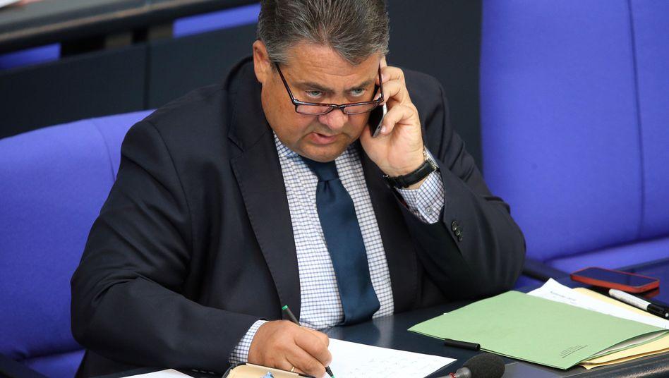 Wirtschaftsminister Gabriel
