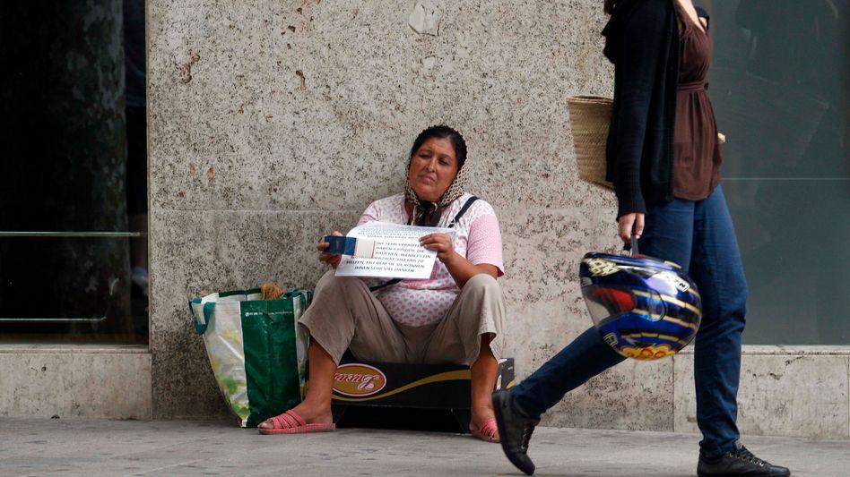 Bettlerin auf Mallorca: Die Wirtschaftskrise betrifft das ganze Land