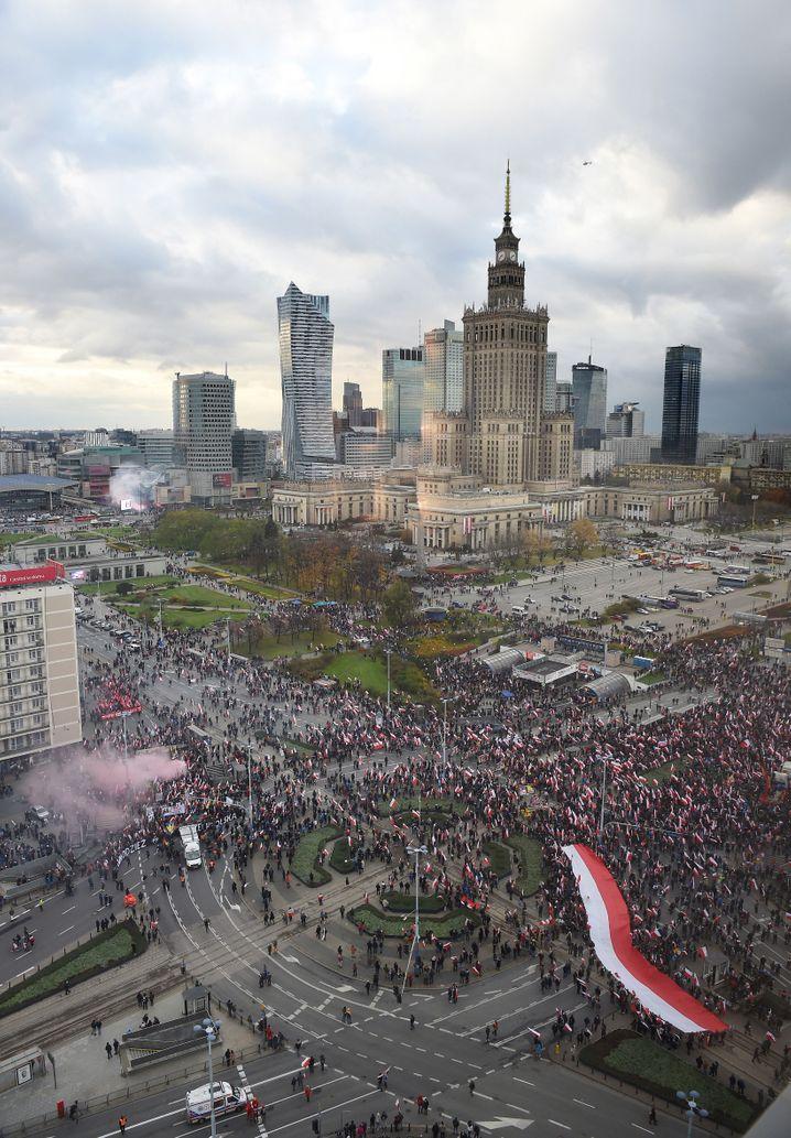 Polnische Hauptstadt Warschau