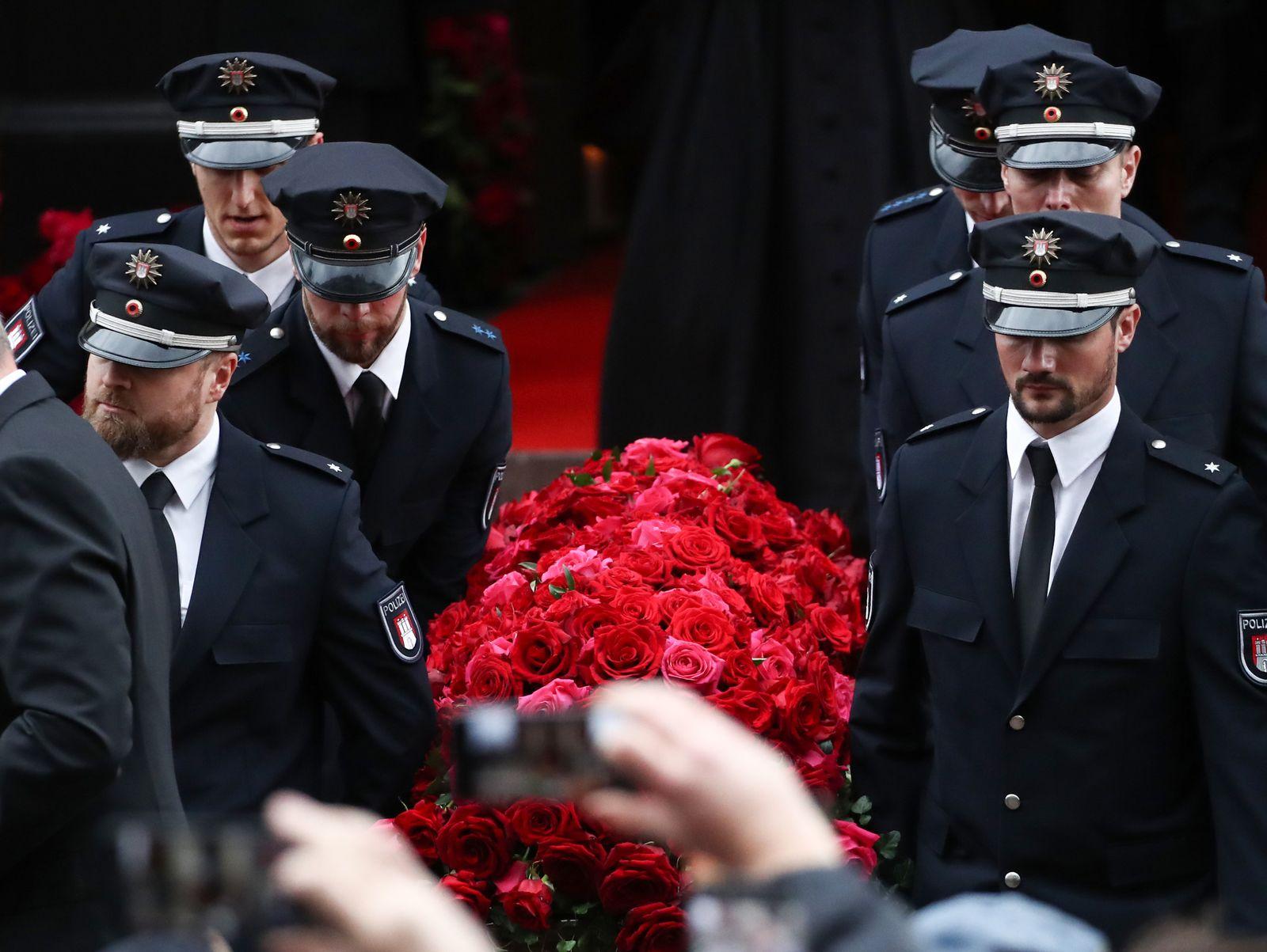 Trauerfeier für den Schauspieler Jan Fedder