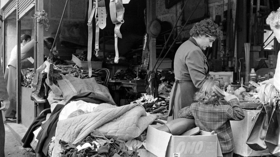Markt im Frankreich der Fünfzigerjahre