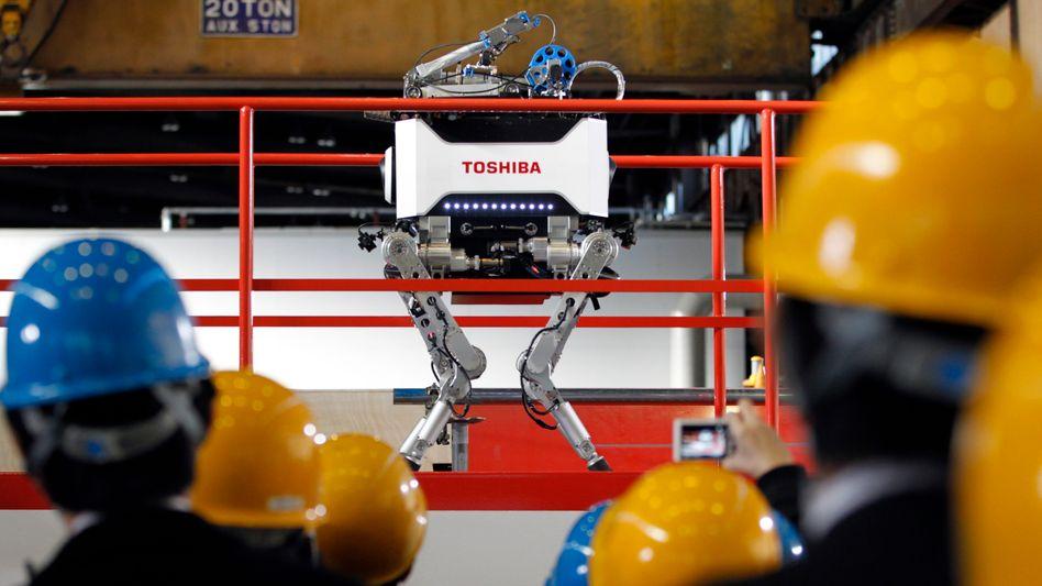Toshiba-Roboter: Der vierbeinige Katastrophenhelfer
