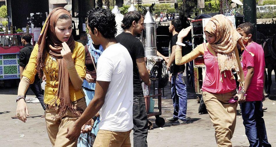 Belästigte Frauen in Kairo