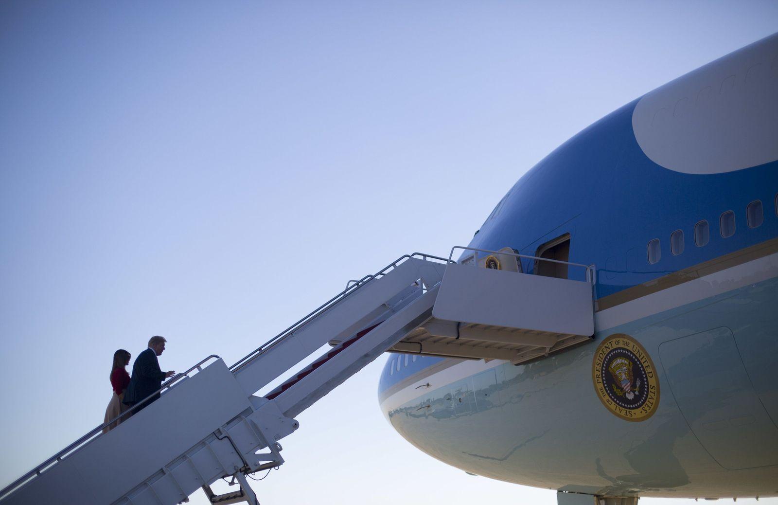 US-Präsident Trump fliegt nach Brüssel