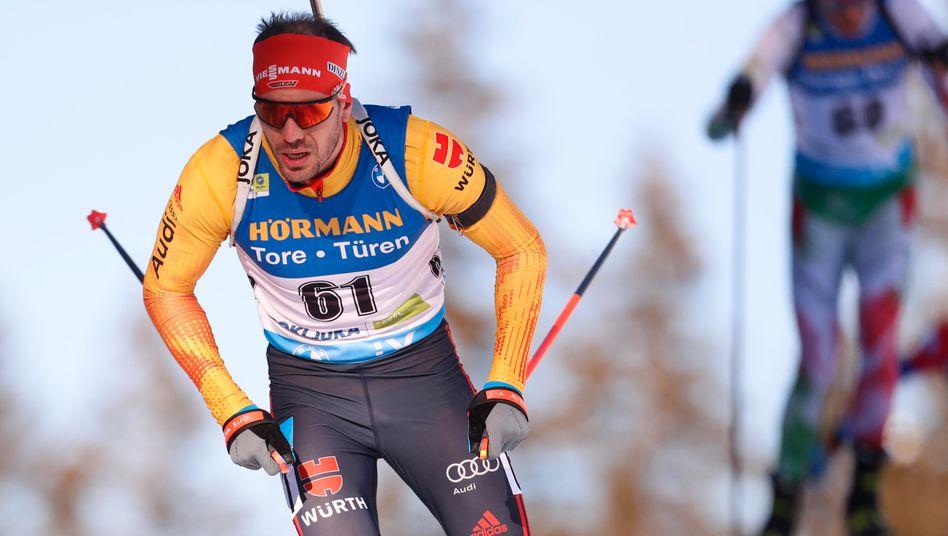 Arnd Peiffer auf dem Weg zur Silbermedaille