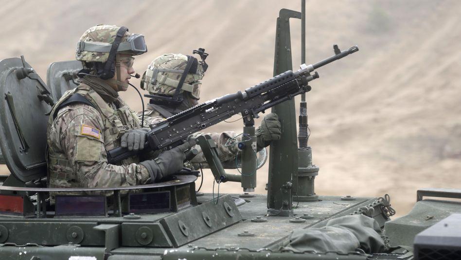 US-Soldaten bei Nato-Manöver in Lettland (Archiv): Allianz setzt auf Abschreckung