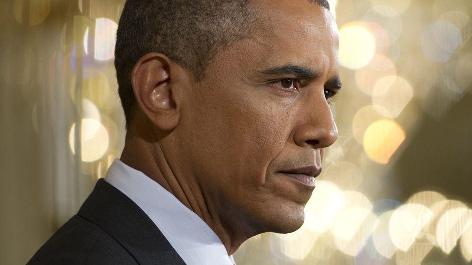 US-Präsident Obama bei seiner Pressekonferenz: Schelte für die Abgeordneten