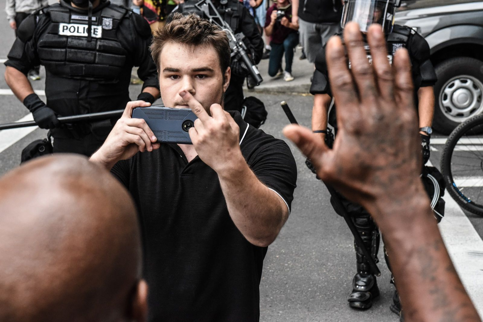 POrtland Nazi Demo Protest Gegenprotest Antifa