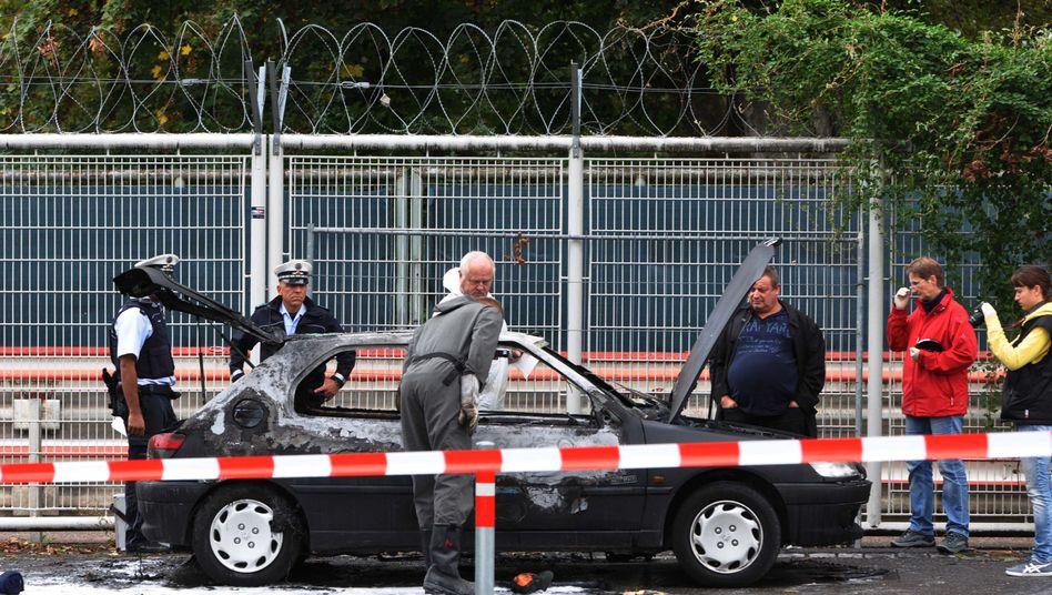 Verbranntes Auto in Stuttgart (16. September 2013): Was wusste Florian H.?