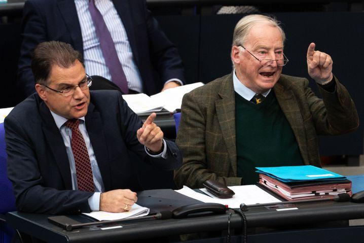 AfD-Politiker Braun und Gauland im Bundestag