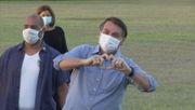 Bolsonaro trifft Fans vor Präsidentenpalast