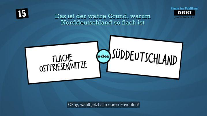"""Bei """"Quiplash 2"""", egal ob auf Deutsch oder Englisch, können drei bis acht Personen mitspielen"""