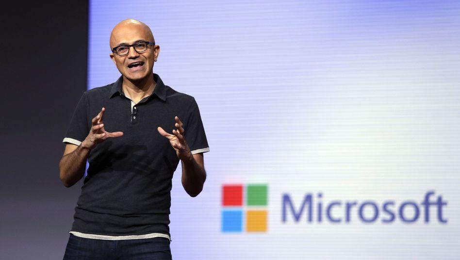 Microsoft-Chef Satya Nadella auf der Build 2018