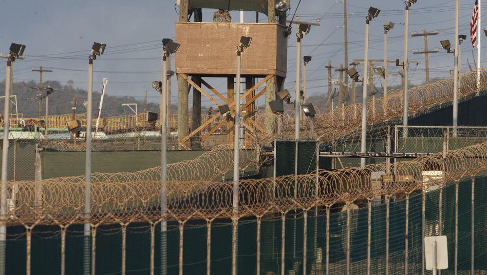 Wachturm in Camp Delta, Guantanamo: Uiguren wollen auf US-Boden entlassen werden