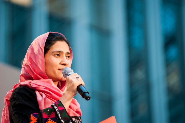 Die Gründerin des Mädcheninternats Sola (School of Leadership Afghanistan), Shabana Basij-Rasikh, 2013 in Washington