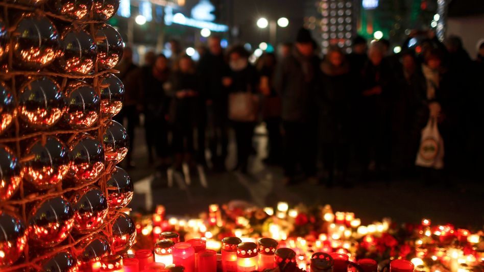 Gedenken am Breitscheidplatz in Berlin