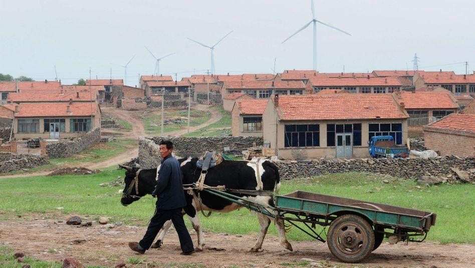 Windkraftanlagen im Umland von Chinas Hauptstadt Peking