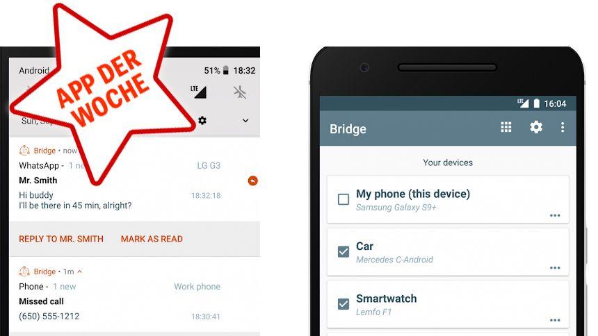 NUR ALS ZITAT Screenshot App der Woche KW49 bridge