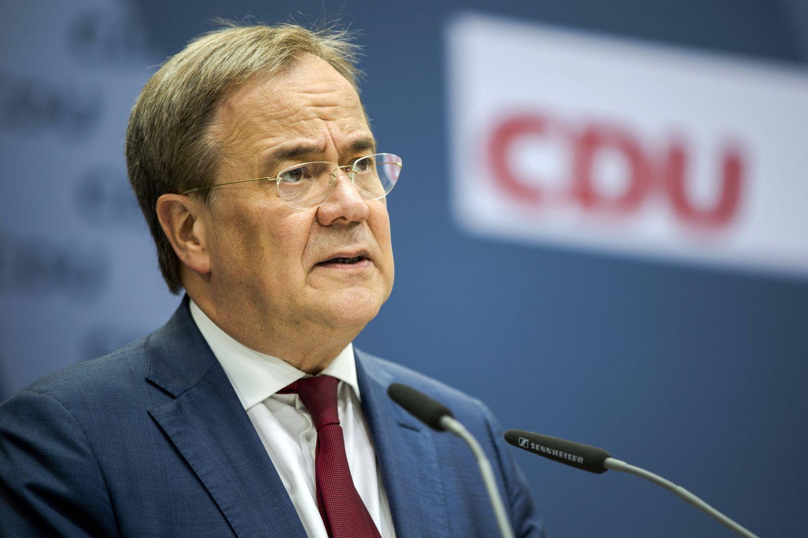 Armin Laschet, Parteivorsitzender der CDU, CDU-Kanzlerkandidat und Ministerpraesident von NRW, aufgenommen im Rahmen ei