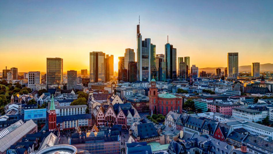 Das Bankenviertel von Frankfurt