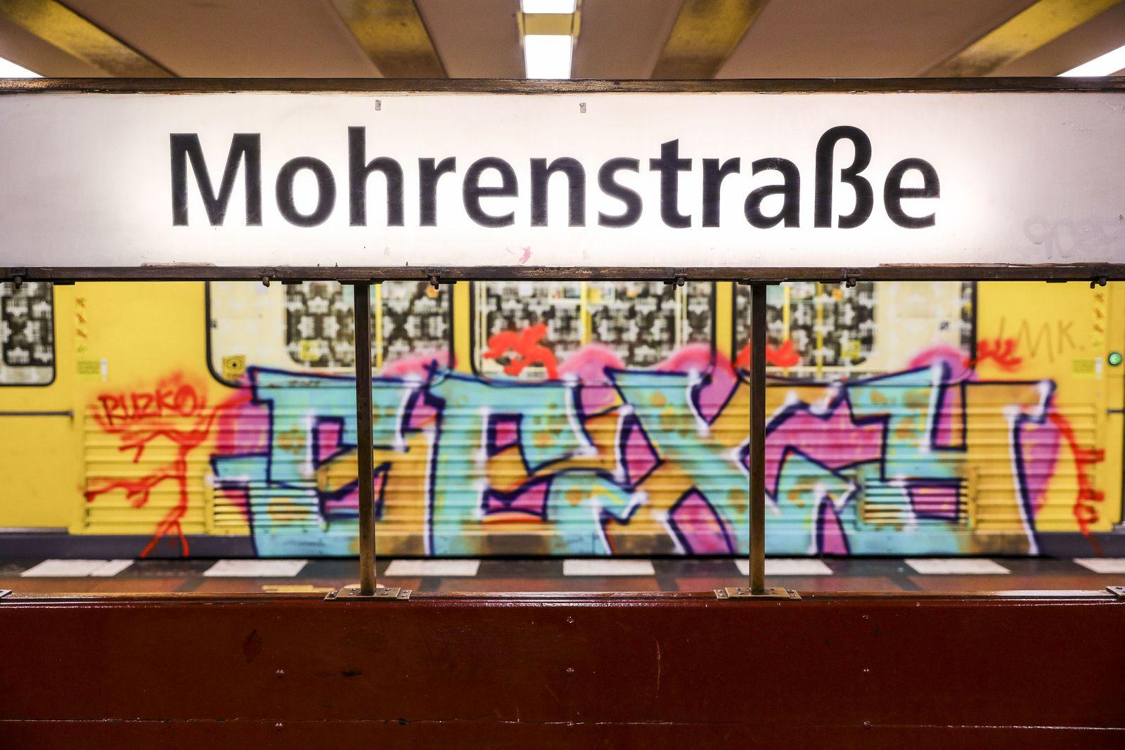 Mohrenstrasse metro station to be renamed, Berlin, Germany - 05 Jul 2020