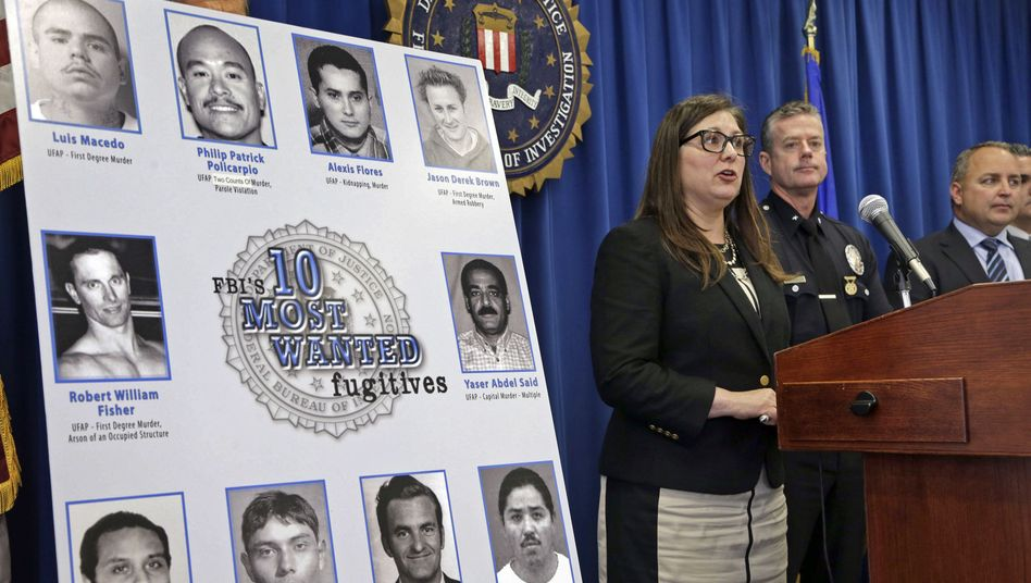 FBI-Pressekonferenz in Los Angeles