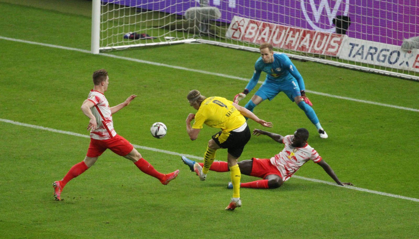 GER,DFB Pokalfinale Männer, RB Leipzig gegen Borussia Dortmund 13.05.2021 , Berlin, Olympiastadion, GER, Saison 2020/ 20