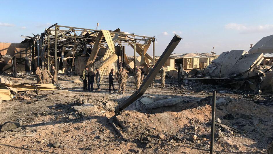 Luftwaffenstützpunkt Ain al-Asad im Irak nach dem iranischen Raketenangriff