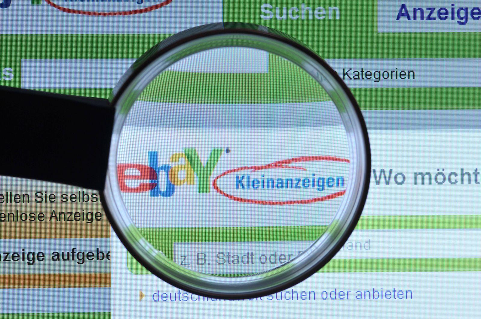 EINMALIGE VERWENDUNG Ebay Kleinanzeigen