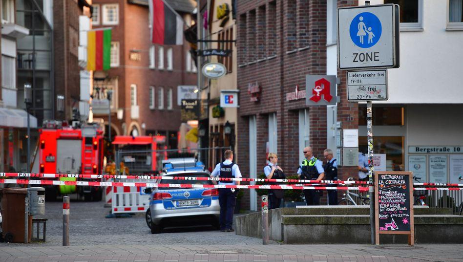 Polizeiabsperrung in Münster