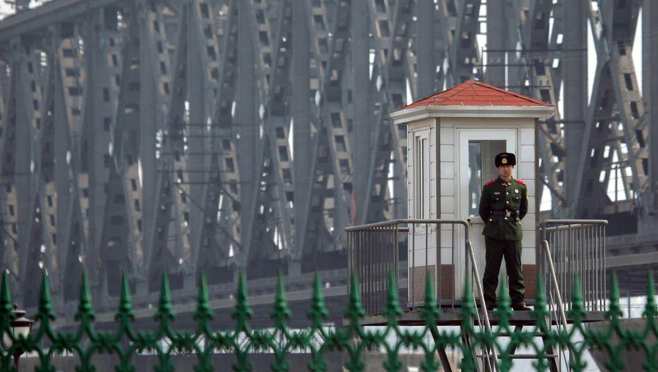 Chinesischer Posten an der Grenze zu Nordkorea: Unmissverständliche Nachricht