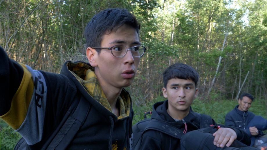 Sajad, 16, in the forest at the border: He long ago stopped counting how many times he has tried to cross it.