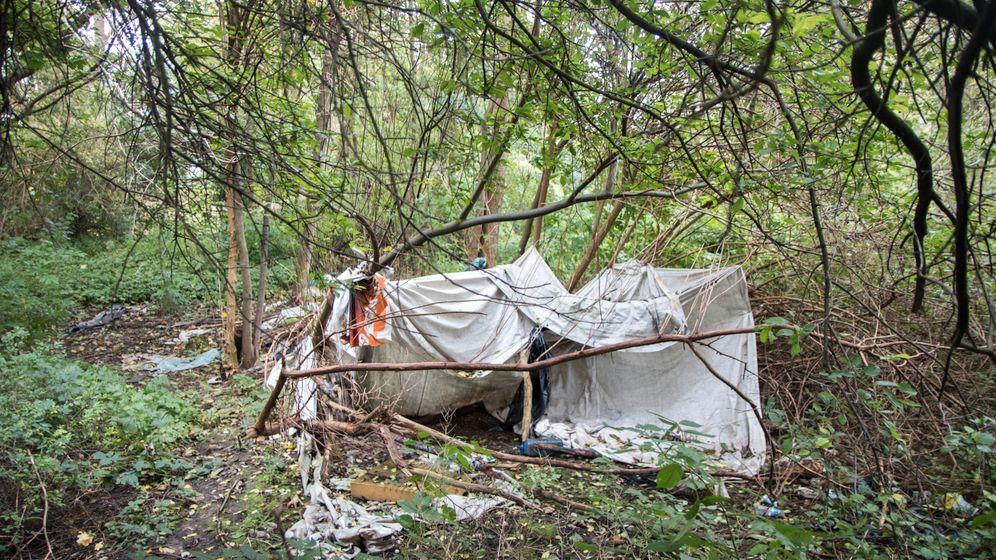 Behausungen bulgarischer Gastarbeiter in Wilhelmsburg