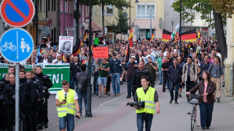 Rechte Demonstration in Köthen (16.09.2018)