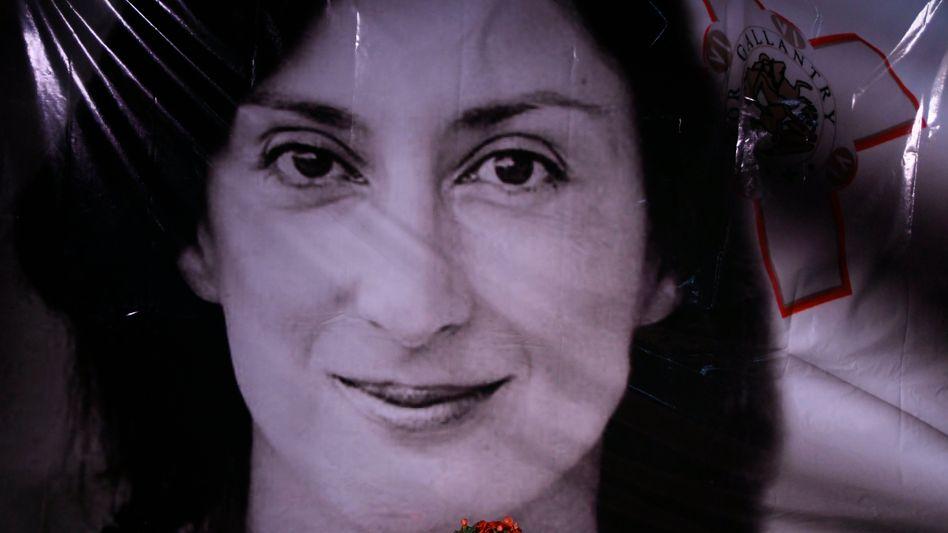 Gedenkort für Daphne Caruana Galizia (Archivbild)