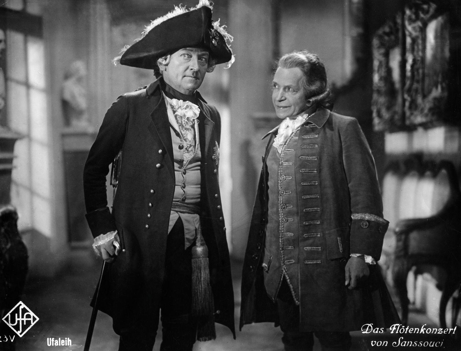 Otto Gebuehr, Schauspieler D - als Friedrich der Grosse in dem Film 'Das Floetenkonzert von Sanssouci'