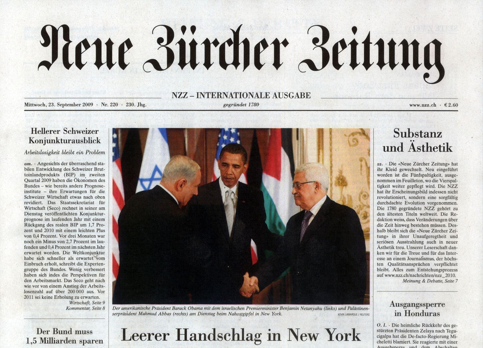 Neue Zürcher Zeitung 23.09.09