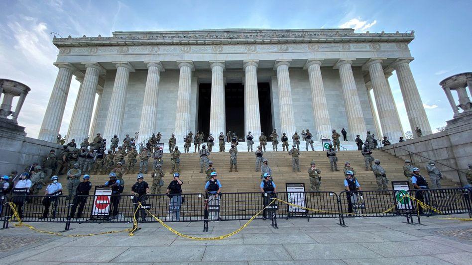 Lincoln Memorial in Washington, D.C., 2. Juni 2020
