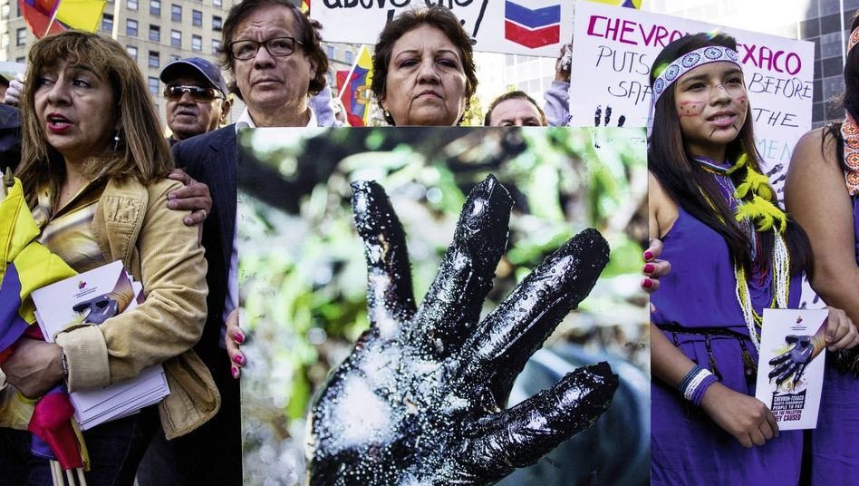 Protest gegen den Ölkonzern Chevron in New York