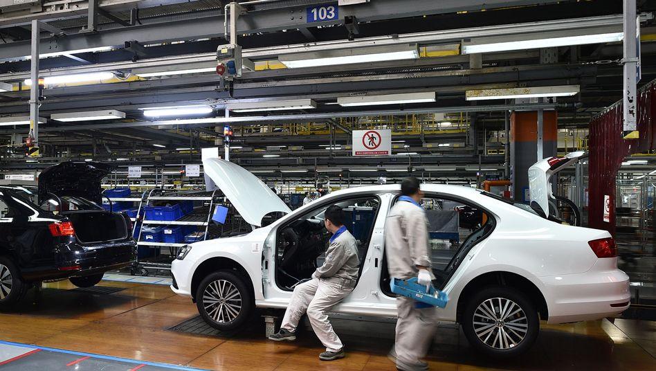 Jetta-Limousine im FAW-Volkswagen-Werk Chengdu