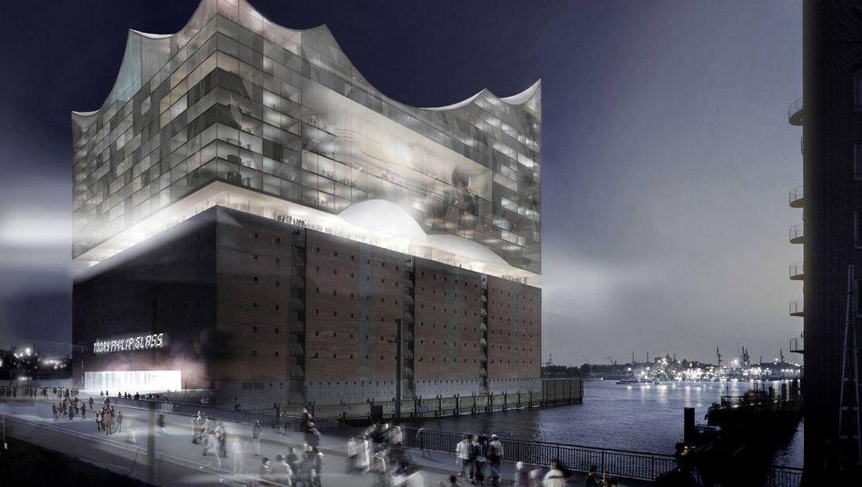 Bis aus dem Modell Wirklichkeit wird, dauert es länger als bis Mai 2012: Elbphilharmonie