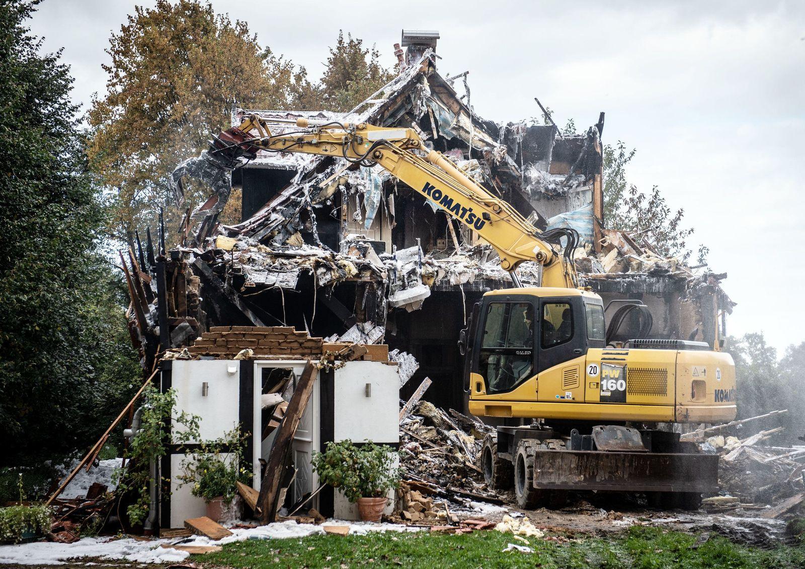 Explosion in einem Haus