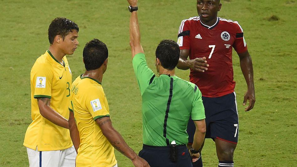 Brasilien-Kapitän Thiago Silva (l.): Einspruch nicht zugelassen