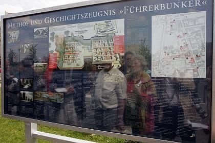 A new sign marking the location of Hitler's bunker in Berlin was unveiled on Thursday.