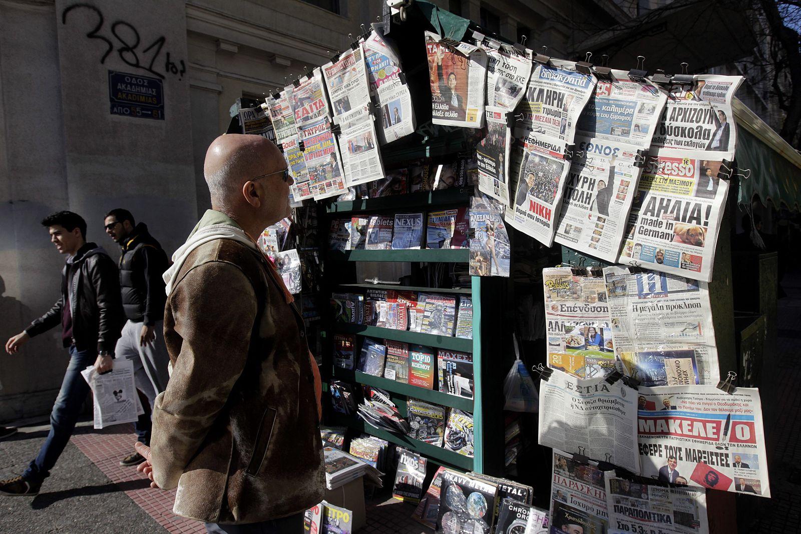 Tsipras/ Medien/ Griechenland/ Zeitung