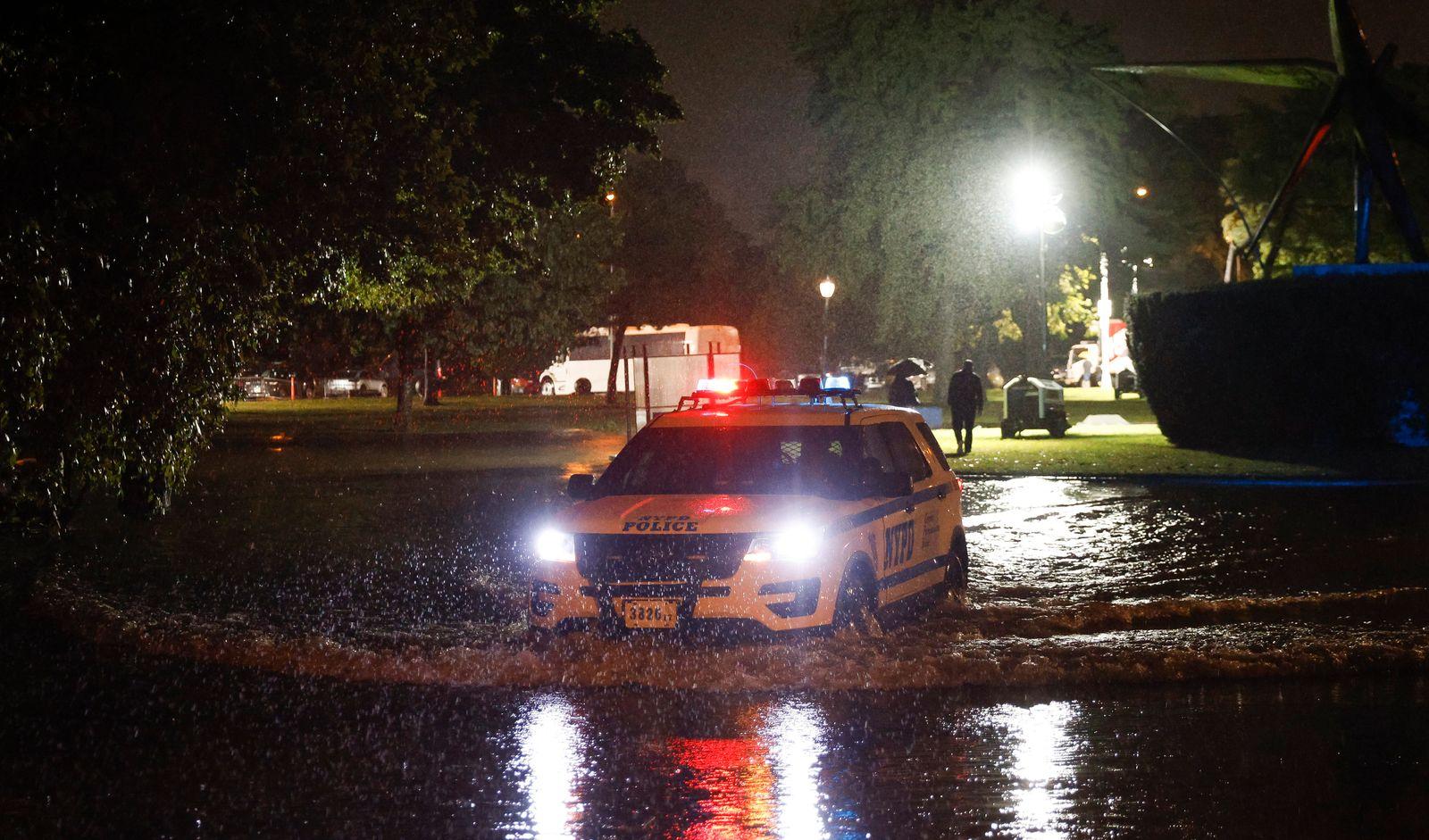 Heavy Rains in New York from remnants of Hurricane Ida