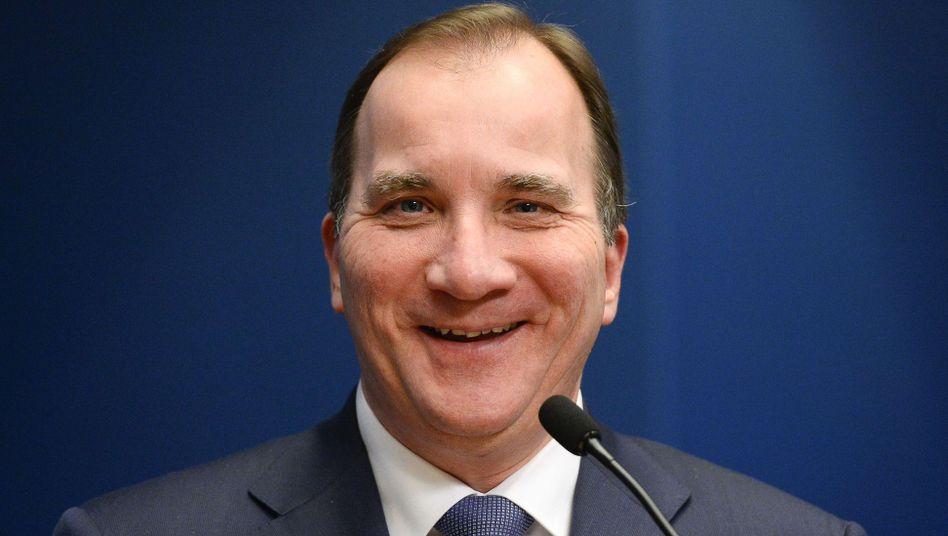 Schwedens Premierminister Loefven: Ankündigung in die Tat umgesetzt