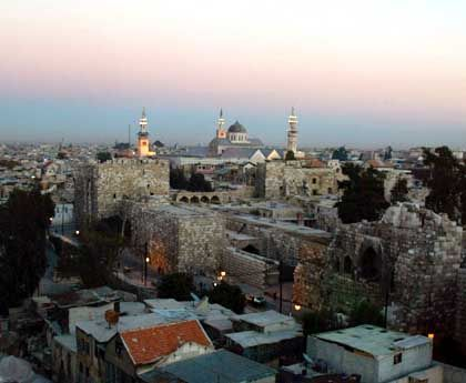 The Syrian capital Damascus: German officials contributed evidence that could help convict terror suspect Zammar.