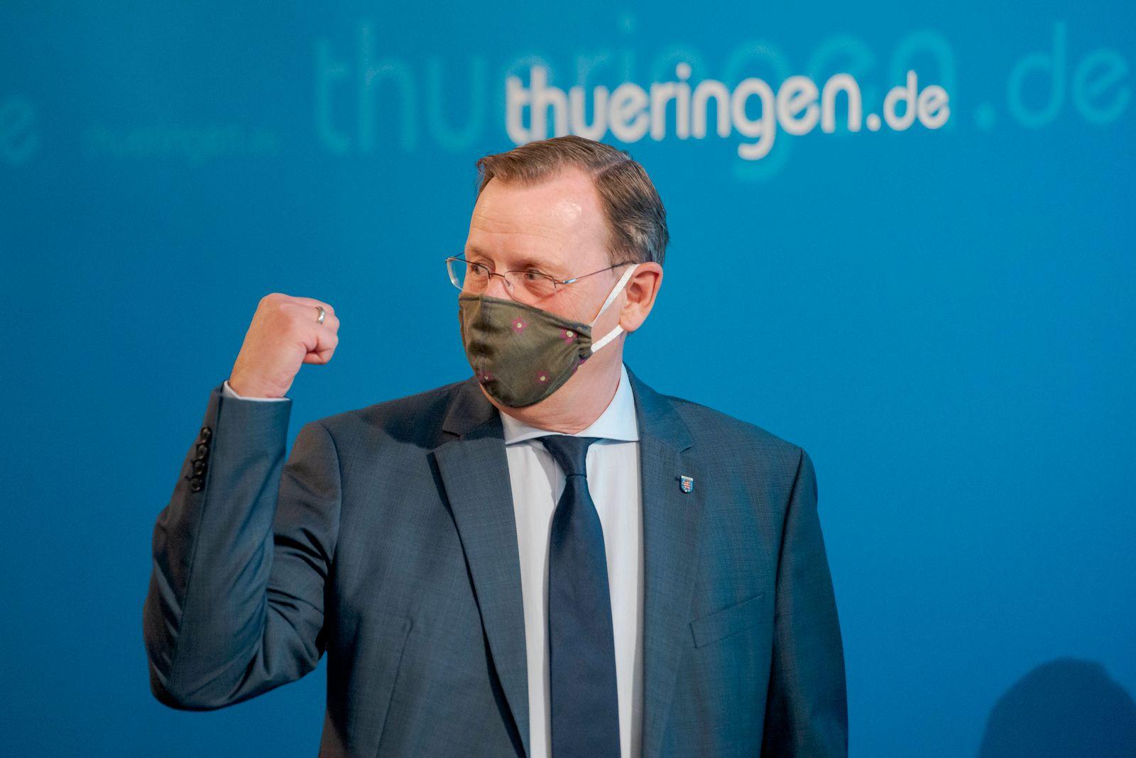 News Bilder des Tages PRESSEKONFERENZ - SITZUNG THÜRINGER LANDESREGIERUNG MIT KIRCHEN 25/05/2020 - Erfurt: Der Thüringe